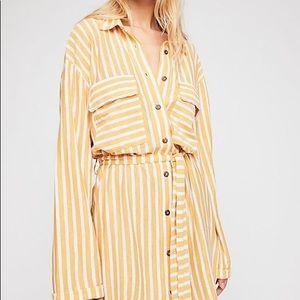Free People Crossroads tunic-sunflower striped-NWT